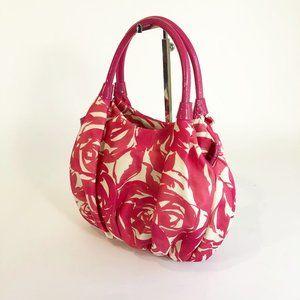 Kate Spade Pink Floral Printed Nylon Stevie Bag